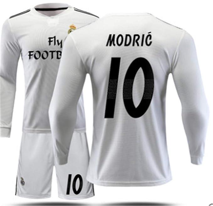 6f816659b83 LISIMKE Soccer Team Home 2018 19 Real Madrid Modric  10 Kid Youth Replica  Jersey