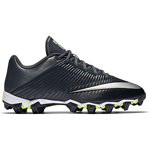 Men's Nike Vapor Shark 2 Football Cleat Black/Anthracite/Metallic Silver Size 12 M (Black Mens Football Cleats)