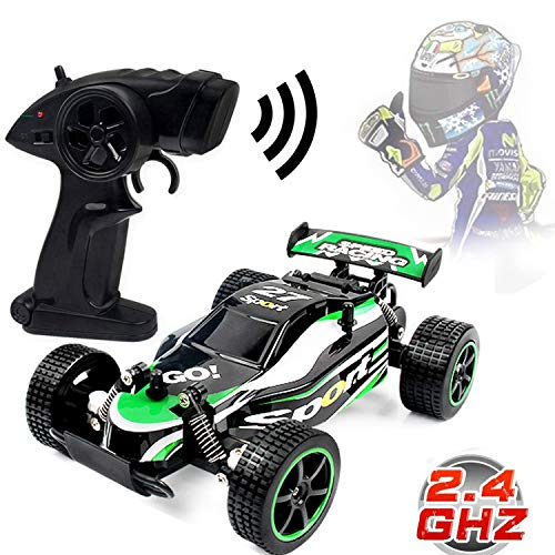 Blexy RC Racing Cars 2.4Ghz High Speed Radio Remote Control Car 1:20 2WD Racing Toy Cars Electric Vehicle Fast Race Buggy Hobby Car Green -