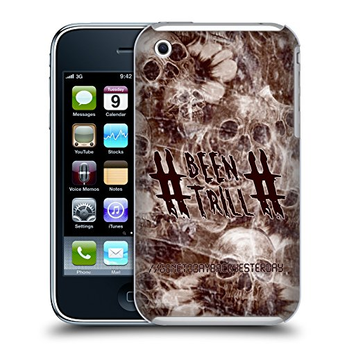 Official Been Trill Sepia Floral And Skulls Hard Back Case for Apple iPhone 3G / 3GS