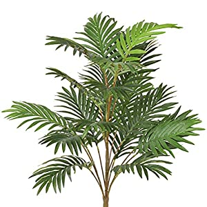 Artificial Palm Leaves Tree Plants Imitation Leaf Artificial Plants Green Greenery Plants Faux Fake Tropical Large Palm Tree Leaves Tree for Home Kitchen Party Flowers Arrangement Wedding Decorations 3