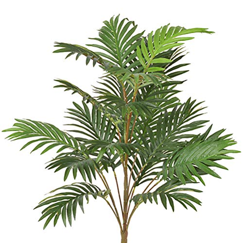 Artificial Palm Leaves Tree Plants Imitation Leaf Artificial Plants Green Greenery Plants Faux Fake Tropical Large Palm Tree Leaves Tree for Home Kitchen Party Flowers Arrangement Wedding Decorations