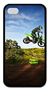 iPhone 4s Cases, iPhone 4s Case - Kawasaki Motocross Jump TPU Silicone Case Cover for iPhone 4 and iPhone 4s - Black