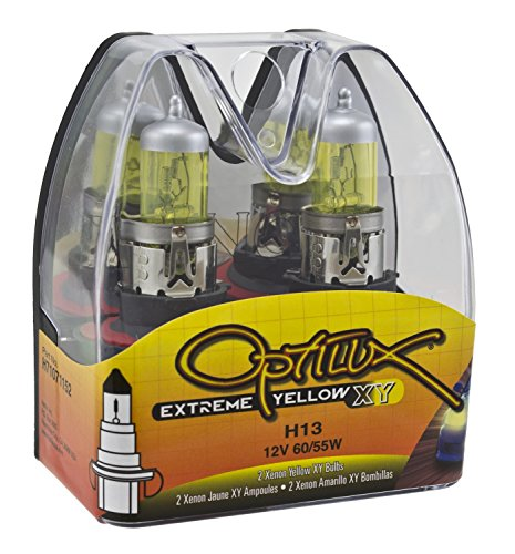 Optilux H71071152 XY Series H13 9008 12W 60/55W Xenon Yellow Halogen Bulb Set (Hella H13 Headlight Bulbs compare prices)