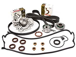 Evergreen TBK244VCT 94-02 Honda Accord Acura Odyssey Isuzu Oasis 2.2 2.3 SOHC F22B1 F23A1 F23A4 F23A5 F23A7 Timing Belt Kit Valve Cover Gasket Water Pump