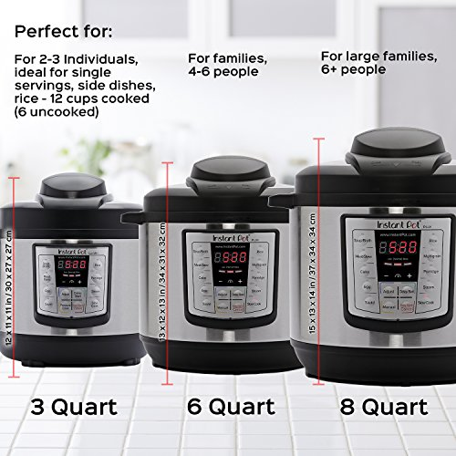 Large Product Image of Instant Pot LUX60V3 V3 6 Qt 6-in-1 Multi-Use Programmable Pressure Cooker, Slow Cooker, Rice Cooker, Sauté, Steamer, and Warmer