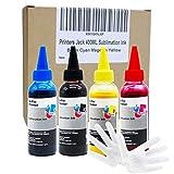 Printers Jack 400ML Sublimation Ink for Inkjet PrintersC88 C88+ WF7610 WF7010 WF7710 WF7720 WF7110 WF7210 WF3640 WF3610 WF3540 Heat Press Transfer on Mugs, Plates, Polyester Shirts, Phone Cases etc