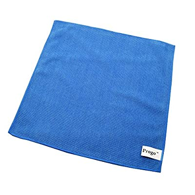 Progo Ultra Absorbent Microfiber Cleaning Cloths for LCD/LED TV, Laptop Computer Screen, iPhone, iPad and more. (12 Pack)