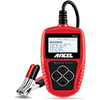 [Sponsored] ANCEL BA101 Professional 12V 100-2000 CCA 220AH Automotive Load Battery Tester Digital Analyzer Bad Cell Test Tool for Car/Boat/Motorcycle and More (Red)