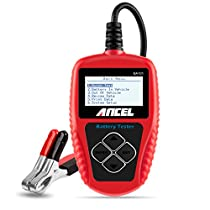 ANCEL BA101 Professional 12V 100-2000 CCA 220AH Automotive Load Battery Tester Digital Analyzer Bad Cell Test Tool for Car/Boat/Motorcycle and More - Red