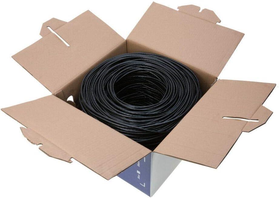 1000ft Outdoor UV Cat5e Bulk 1000ft Cable Wire Ethernet Solid Network Modem LAN RJ45