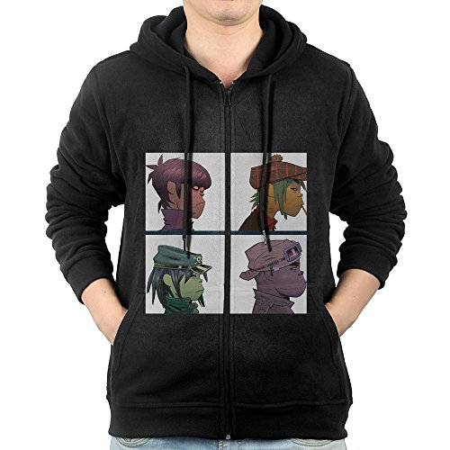 Gorillaz Demon Days The Fall Plastic Beach Sports Hooded Sweatshirt Womens