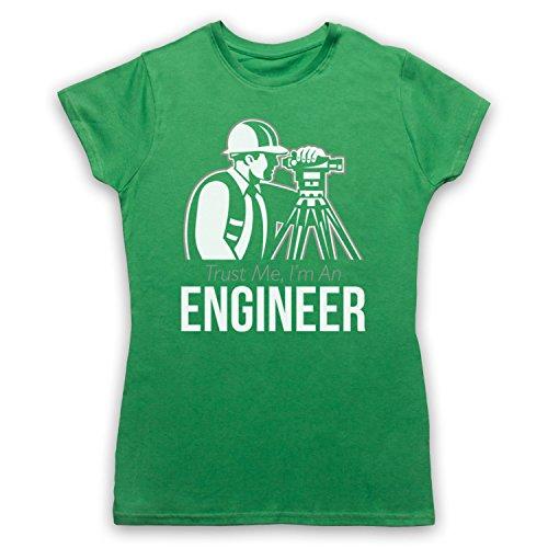 Trust Me I'm An Engineer Funny Work Slogan Camiseta para Mujer Verde