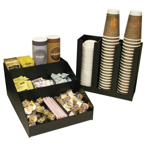 Coffee Organizer and 3 Column Cup or Lid Holder Combo, At One Great Price! Use Together or Separate. Proudly Made In The USA! by PPM by Plastic & Products Marketing PPM