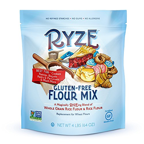 RYZE Gluten Free Flour - Two Ingredients, No Additives or Fillers, Cup-for-Cup Replacement, Blue Bag - Cookies, Biscuits, Pie Crusts, Scones and Much More, 4lbs ()
