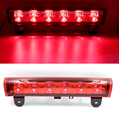 High Mount LED 3rd Stop Brake Light Third Light Brake CHMSL Center Light for 2000-2006 Chevy Suburban Tahoe (Red)
