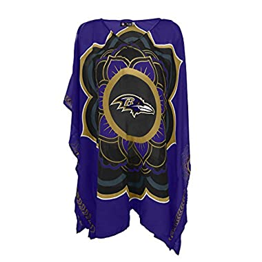 NFL Baltimore Ravens Womens NFL Caftan, Purple, One Size Fits Most