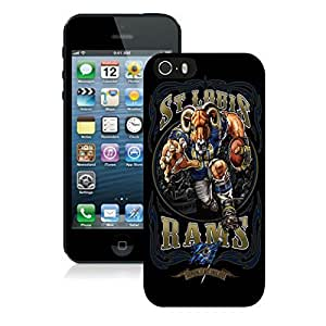 Cool St Louis Rams Iphone 5s Case Elegant Black Cell Phone 5 Cover by kobestar