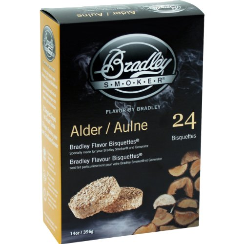 - BTAL24 Alder Bisquettes 24-Pack Bradley Smoker Outdoor Cooking Food
