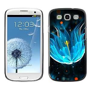 TopCaseStore / la caja del caucho duro de la cubierta de protección de la piel - abstrakciya svet neon blesk - Samsung Galaxy S3 I9300