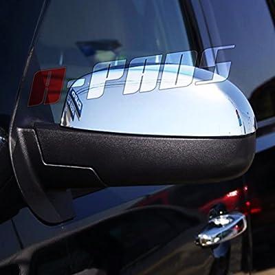 A-PADS 2 Chrome Mirror Covers For GMC DENALI+XL 2007-2013 / SIERRA 1500+2500+3500 07-13 / YUKON+XL 2007-2014 - Upper Top Half Mirrors PAIR