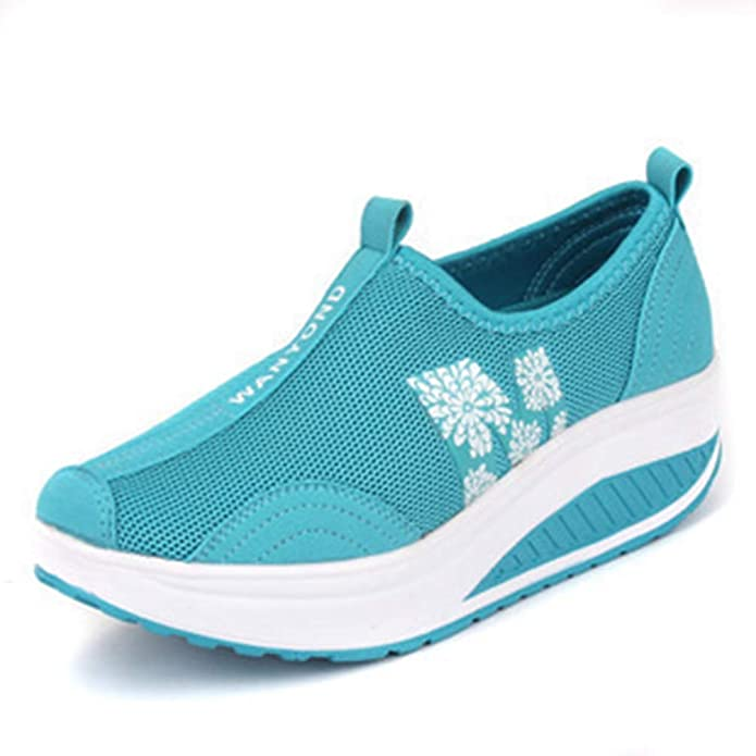 Amazon.com | T-JULY Women Sneakers White Black Platform Womens Casual Shoes Ladies Basket Femme Wedges Trainers Zapatillas | Shoes