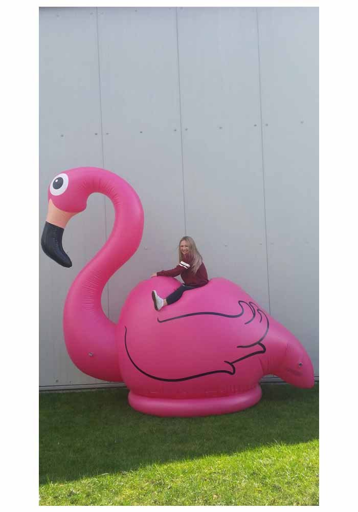 Aufblasbarer XXL Flamingo - 3,1 m gross