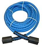 UBERFLEX Kink Resistant Pressure Washer Hose 1/4' x 25' 3,100 PSI with (2) 22MM