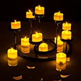 Sunlighte Flameless LED candles,Unscented Flickering Tea Light With Battery ...