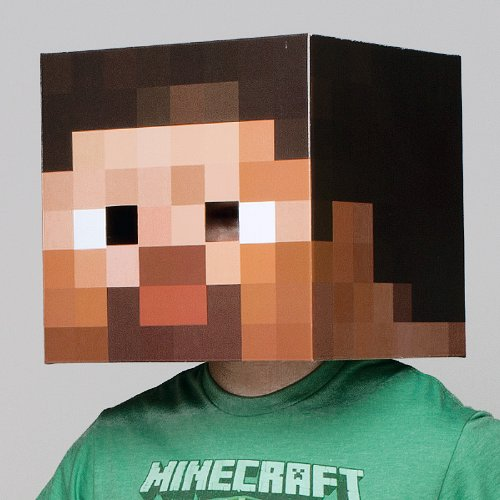 [Minecraft Steve Head] (Costumes Out Of Cardboard Box)
