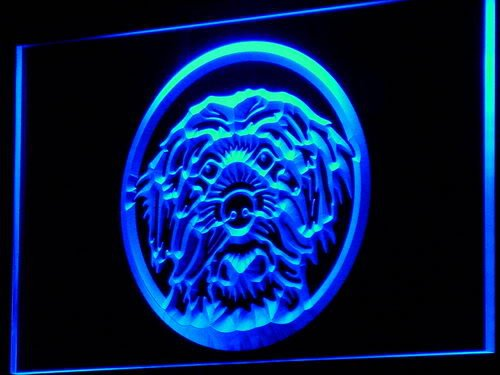 (ADV PRO i676-b Mongrel Dog Breeder Pet Shop Neon Light Sign)