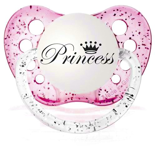 - Personalized Pacifiers Princess Pacifier Glitter Pink