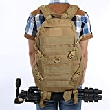 Hikingworld 40L Military Army Patrol MOLLE Assault Pack,strike Pack,tactical Combat Rucksack Backpack Bag,also for Travelling/hiking/camping/cycling. (Khaki)