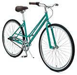 Critical Cycles Mixte 3-Speed City Coaster Commuter Bicycle, Turquoise, 49cm/Small Review