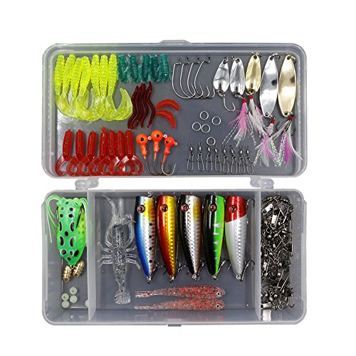 Threemart Fishing Lure Set Including Frog Lures,Spoon Lur...