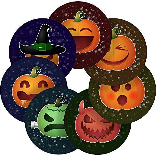 Halloween Smiley Emojis Reward Sticker Labels, 70 Stickers @ 1