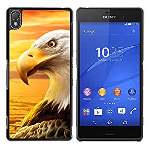 Qstar Arte & diseño plástico duro Fundas Cover Cubre Hard Case Cover para Sony Xperia Z3 D6603 / D6633 / D6643 / D6653 / D6616 ( Eagle Royal Flying Desert Bird Magnificent)