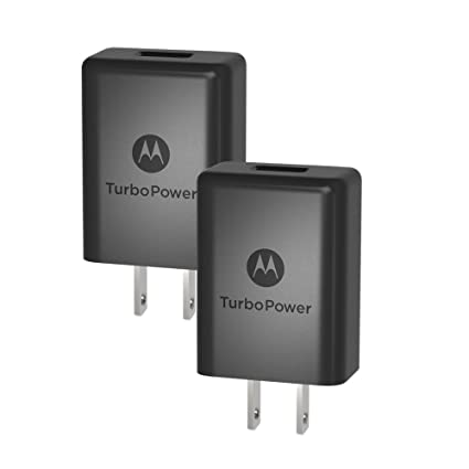 [2 Pack] Motorola TurboPower 15+ QC3.0 Chargers for Moto G5 Plus