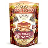 whole grain waffle mix - Organic 6-Grain Cinnamon Pancake and Waffle Mix by Birch Benders, Whole Grain, Non-GMO, 16oz