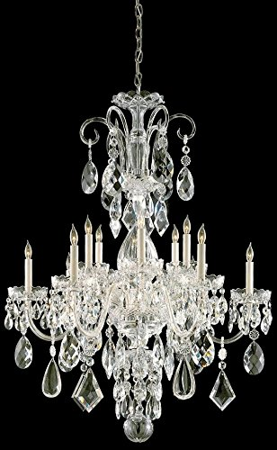 Crystorama 1045-PB-CL-MWP Crystal 12 Light Chandelier from Traditional Crystal collection in Brass-Polished/Castfinish,