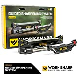 Work Sharp WSGSS Guided Sharpening System, bench-top knife sharpener, angle guides, diamond plates, ceramic hone, perfect for home, camp or field sharpening, sharpens all types of knives, fishhooks &common camp tools.