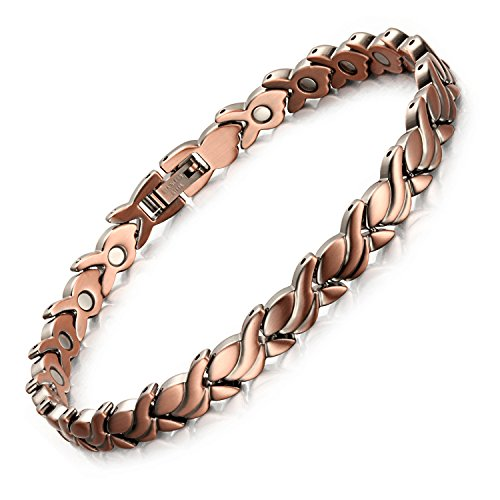 Rainso Womens Magnetic Copper Bracelets for Arthritis Wristband -