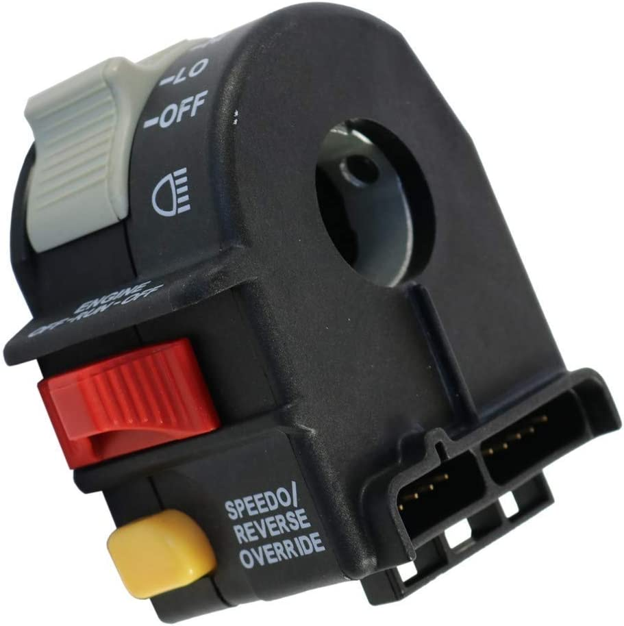 Motorcycle Switch for Polaris Sportsman Trail Boss Left Handlebar Switches Hi Lo Light ON-Off Stop Turn Signal Button 4010591