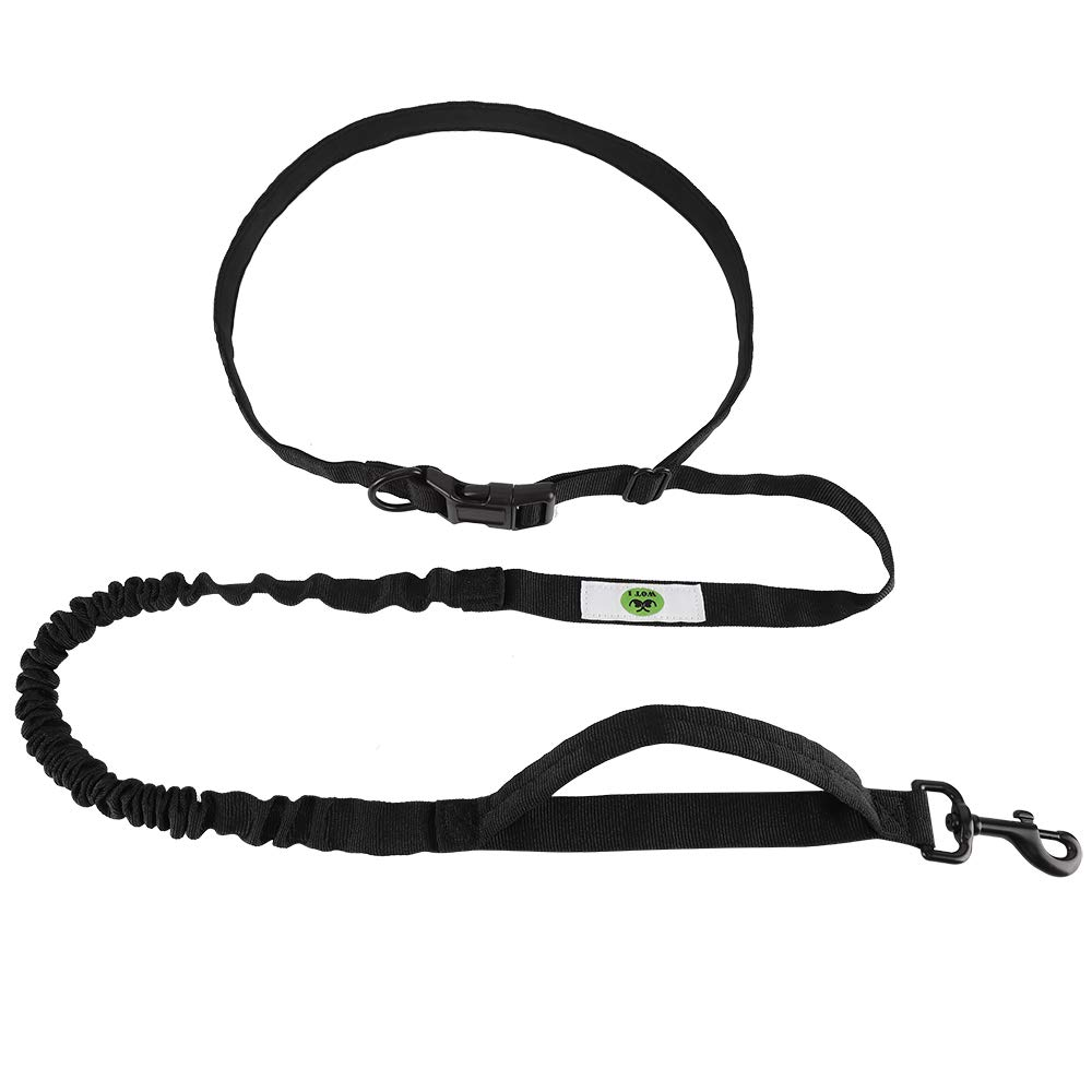 Hands Free Dog Leash 5.7ft Adjustable Waist Belt for Small and Medium Dogs (110lbs) Small Dog Leash Double Handle Dog Leash