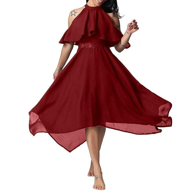 Amazon.com: Ximandi - Vestido de cóctel para mujer, elegante ...