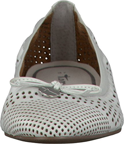 Ballerinas 1 White Tamaris white Women 1 28 22107 100 zCCq5