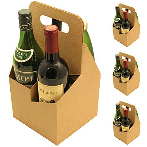 4 Bottle Carrier holds Large 22oz Beer Bottles or 750ml Wine Bottles (4 Pack) (22 Oz Beer Bottle Carrier compare prices)