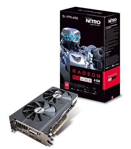 Sapphire Radeon Nitro Rx 480 4GB GDDR5 Dual HDMI / DVI-D / Dual DP OC w/ Backplate (UEFI) PCI-E Graphics Card - Backplate Pci