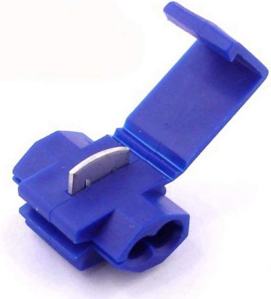 Raccords Auto-D/énudants - LIVRAISON GRATUITE! 50x Cosse Electrique Connecteur Rapide Bleu Pour fils jusqu/à 1.1mm to 2.6mm/² - Lot de 50 Cosses Electriques D/érivations