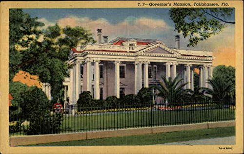 T. 7 - Governor's Mansion Tallahassee, Florida Original Vintage - Governor Tallahassee